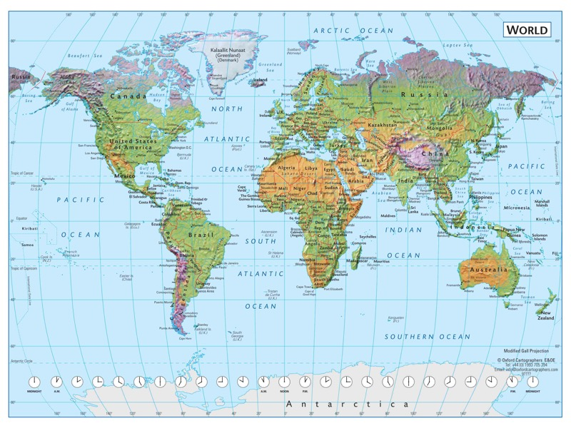 World environment map